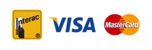 Interac, Visa, Mastercard